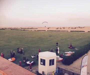 Vliegveld in de desert