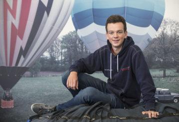 Martijn is jongste ballonvaarder van Nederland