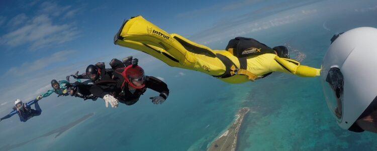 Zeer spectaculaire Skydive Belize Boogie
