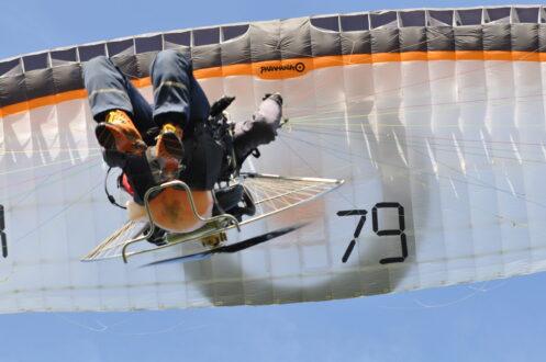Genieten van het paramotorvliegen!