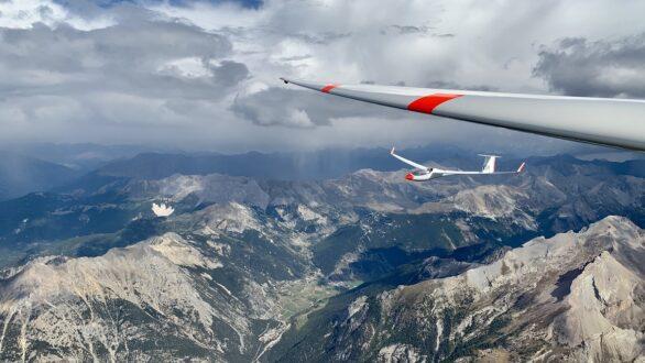 Zwevend over de Alpen